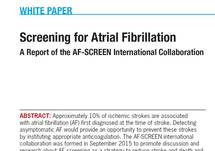 White Paper on Screening for AF