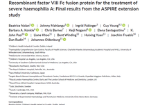 Recombinant factor VIII Fc fusion protein for the treatment of severe haemophilia A: Final results from the ASPIRE extension study