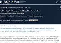 2020 AGA Probiotic Guideline