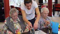To Learn to Care for the Elderly, Students Move into a Retirement Home