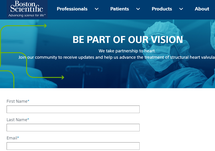 Sign Up for Boston Scientific Structural Heart Updates