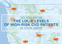 Lipidlink Resource- Visit Lipidlink's Interactive LDL-C Heat Map of High Risk ASCVD Patients