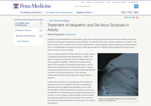 Treatment of Idiopathic and De Novo Scoliosis in Adults