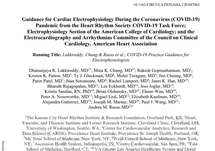 Guidance for Cardiac Electrophysiology During the Coronavirus (COVID-19)
