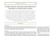 Cardiac Myosin Activation with Omecamtiv Mecarbil in Systolic Heart Failure