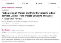 Participation of Women and Older Participants in Randomized Clinical Trials of Lipid-Lowering Therapies