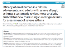 Allergy Asthma Clin Immunology: Efficacy of omalizumab in children, adolescents, and adults with severe allergic asthma: a systematic review