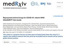 Repurposed antiviral drugs for COVID-19 –interim WHO SOLIDARITY trial results