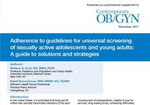 Adherence to Guidelines for Universal Screening of Sexually Active Adolescents and Young Adults