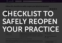 Checklist to Safely Reopen Your Practice