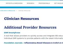 Crohn's & Colitis Foundation – Clinician Resources