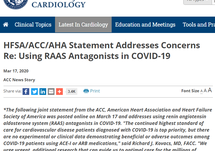 Using RAAS Antagonists in COVID-19