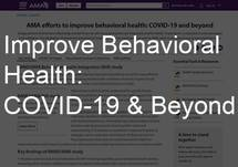 Improve Behavioral Health: COVID-19 & Beyond