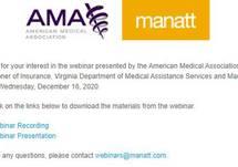 AMA & Manatt Webinar