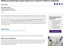 Medicare Advantage Value-Based Care Contracts: What to negotiate