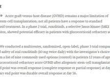 Ruxolitinib for Glucocorticoid-Refractory Acute Graft-Versus-Host Disease