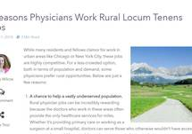 5 Reasons Physicians Work Rural Locum Tenens Jobs