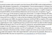 α1-Antitrypsin infusion for Treatment of Ateroid-Resistant Acute Graft-Versus-Host Disease
