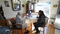 On demand senior home care via smart phone