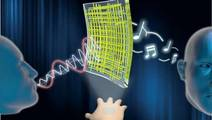 Transparent Loudspeakers and Mics That Let Your Skin Play Music