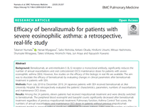 BMC Pulmonary Medicine: Efficacy of benralizumab for patients with severe eosinophilic asthma: a retrospective, real-life study