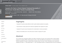 Capsaicin 8% Patch in Painful Diabetic Peripheral Neuropathy: A Randomized, Double-Blind, Placebo-Controlled Study