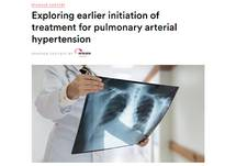 Exploring earlier initiation of treatment for pulmonary arterial hypertension