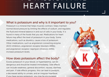An educational handout for patients on dietary considerations surrounding potassium and heart failure.