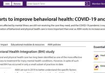 AMA Efforts to Improve Behavioral Health: COVID-19 & Beyond