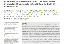 Long-term safety and sustained efficacy for up to 5 years of treatment with recombinant factor IX Fc fusion protein in subjects with haemophilia B: Results from the B-YOND extension study