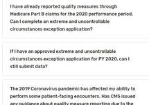 CMS QPP COVID-19 Response