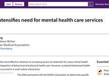 COVID-19 Intensifies Need for Mental Health Care Services